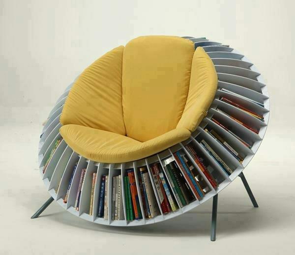 silla para guardar y leer libros - Sillon Lectura