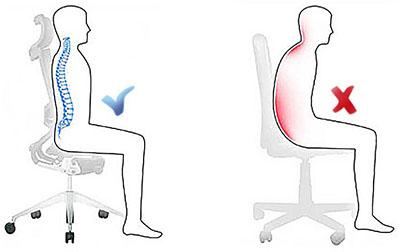 C mo sentarse bien en la oficina for Sillas para una buena postura