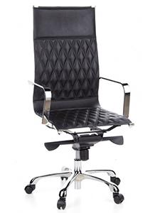 Espectacular silla de despacho MODENA, con tapizado en piel con rombos