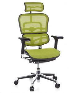 Silla ergonómica de oficina en color verde