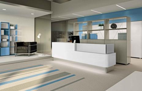 C mo elegir los muebles de recepci n de una oficina for Recepciones modernas para oficinas