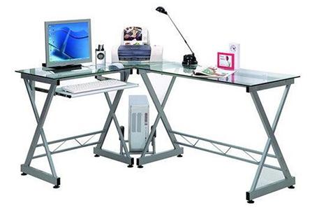 5 trucos para mantener la mesa de oficina despejada for Mesa cristal oficina