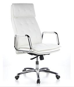 Imponente silla de piel blanca VILLA
