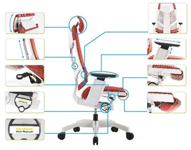 Mejor silla de oficina es totalmente ajustable