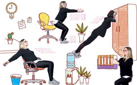 Formas de hacer ejercicio en la oficina for Ejercicios en la oficina