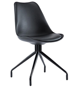 Silla despacho diseño RECULA, acabado en negro