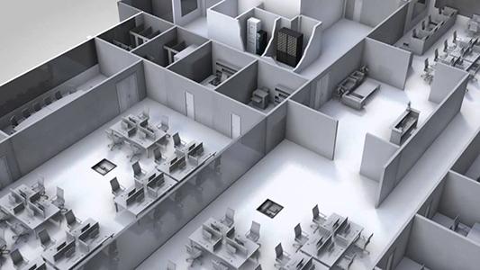 Ejemplo de plano distribución oficinas