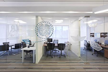 Cortinas para oficinas modernas y a la última