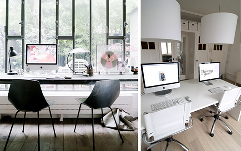 M ntate un despacho para dos en casa for Despacho moderno casa