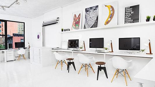Ejemplo de oficina estilo nordico