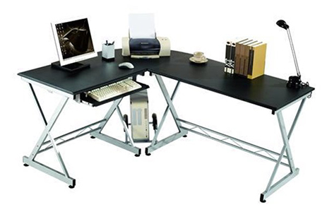 Mesa en L para oficina en casa