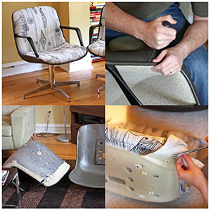 C mo tapizar una silla de oficina for Sillas comodas para trabajar