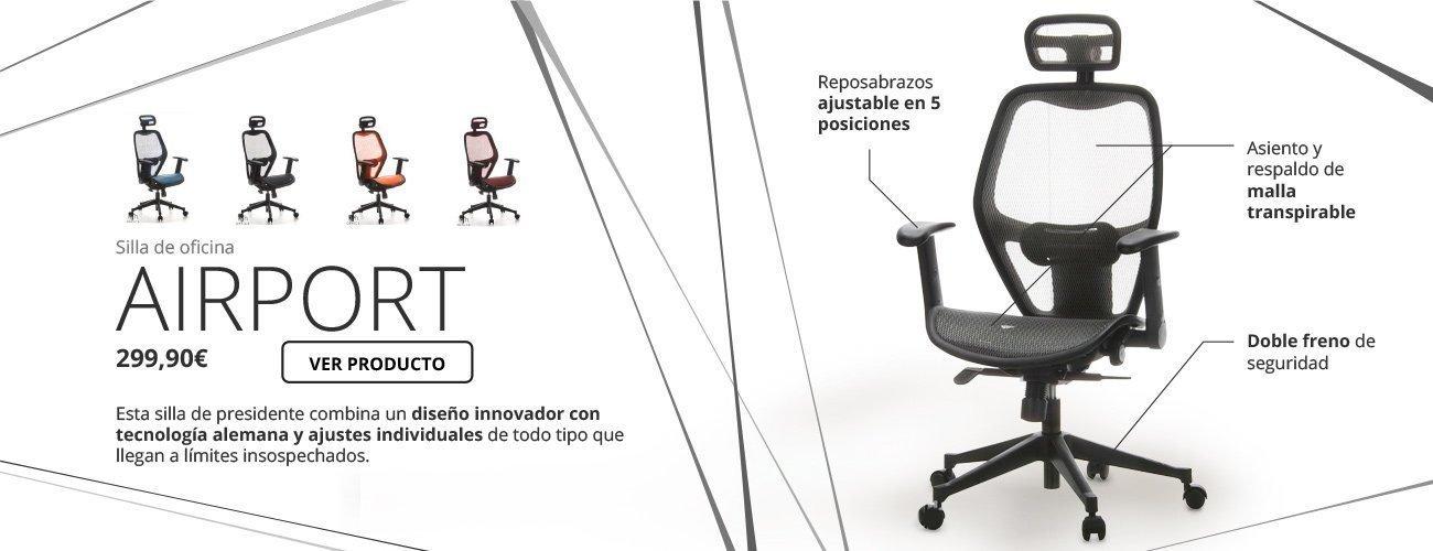 Sillas De Oficina Madrid. Awesome Silla Operativa Para Oficina Stay ...