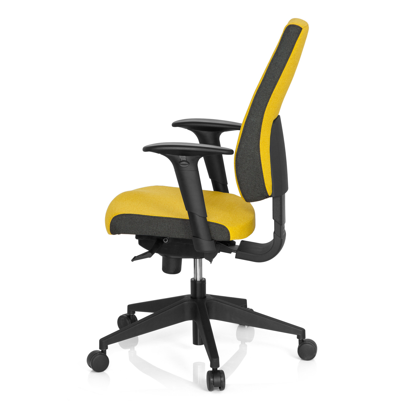 Silla de oficina ergon mica ajustable detroit amarillo for Sillas de oficina ergonomicas