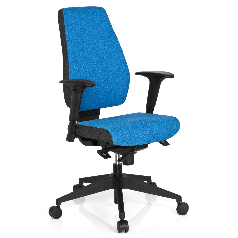 Silla Oficina Ergonómica DETROIT, Homologada para 8 h, 100% Regulable,  Color Azul