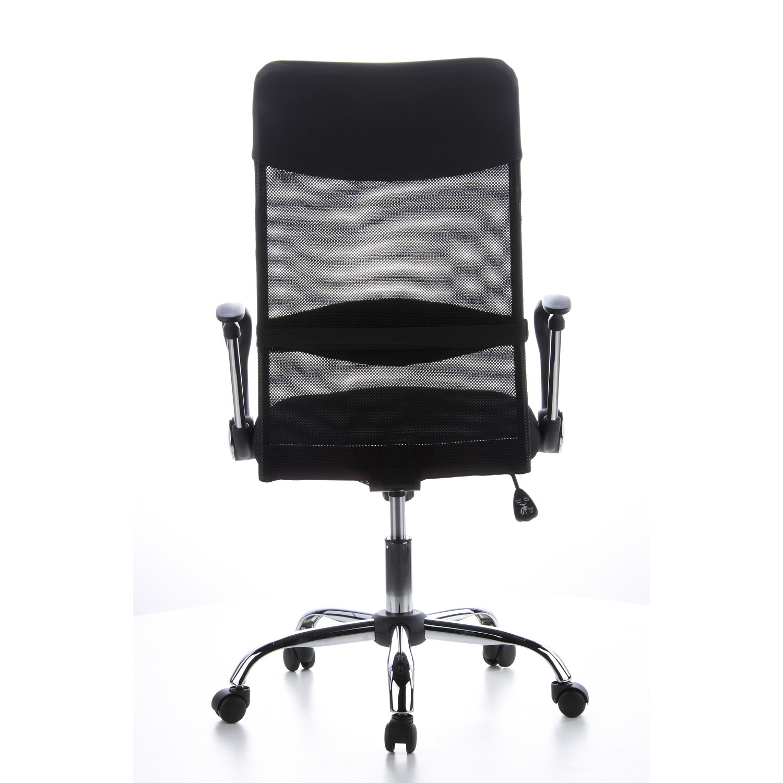 Silla de oficina arial en malla y cuero color negro for Costo de sillas para oficina