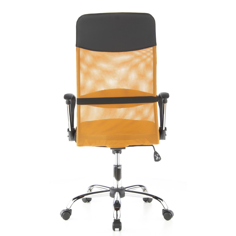 Silla de oficina aria malla y cuero sintetico naranja for Sillas para oficina precios
