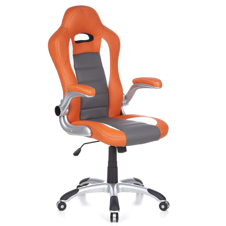 Silla de oficina y ordenador MONTECARLO, en polipiel naranja - Silla ...