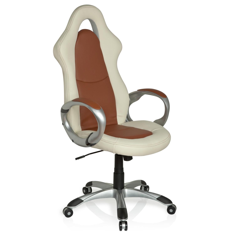 silla de oficina racer sport elegance polipiel marr n