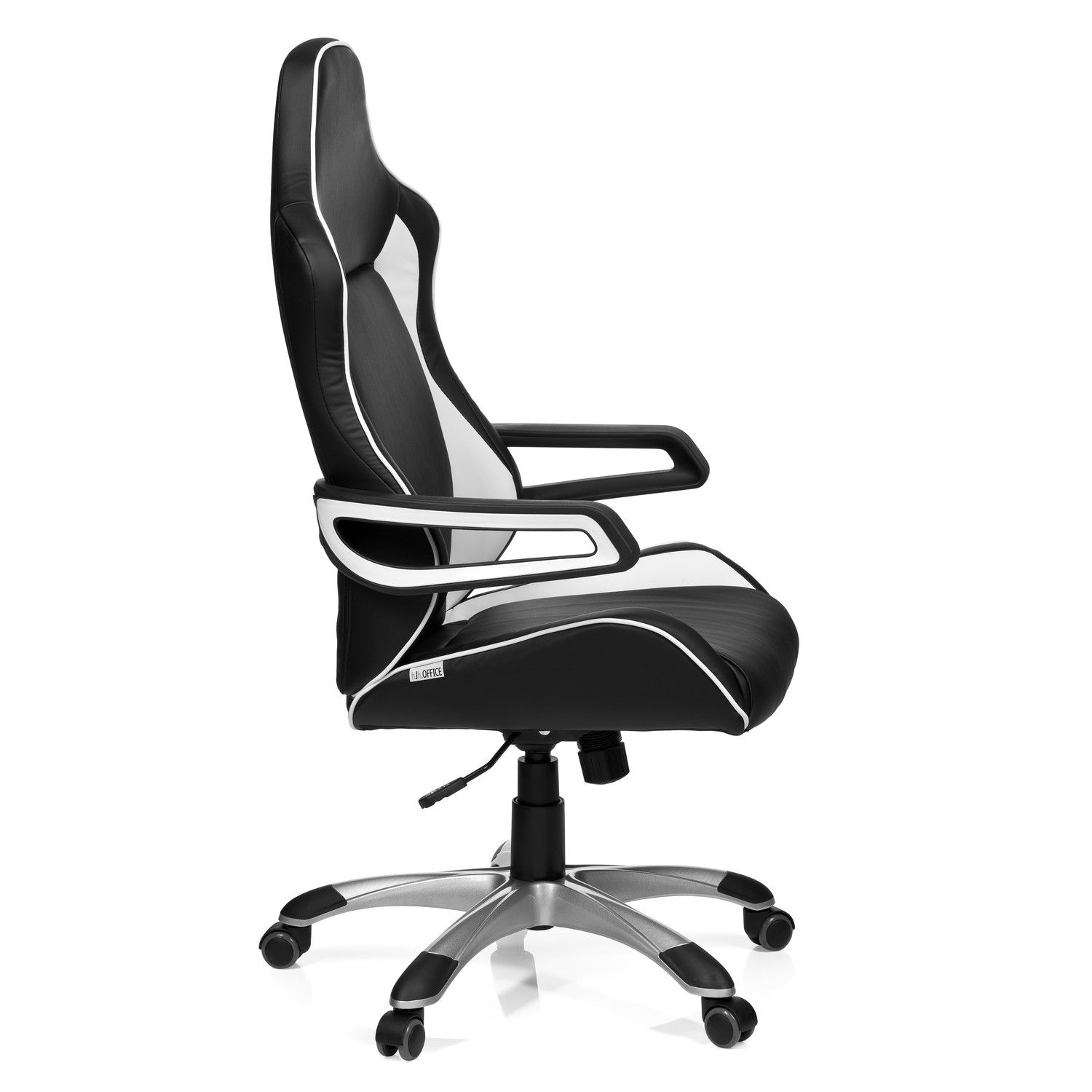 Silla ordenador gaming racer pro en color blanco negro for Silla ordenador gaming