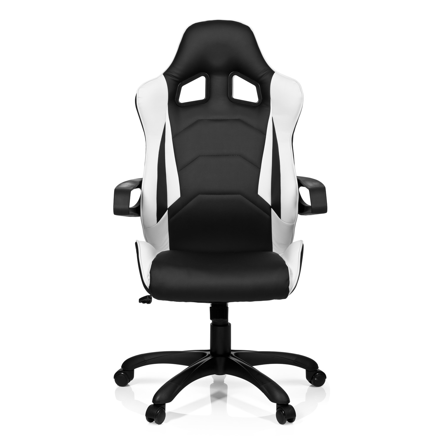 silla gaming racer pro i uso 8h color blanco negro sill n gaming racer pro i gran dise o. Black Bedroom Furniture Sets. Home Design Ideas