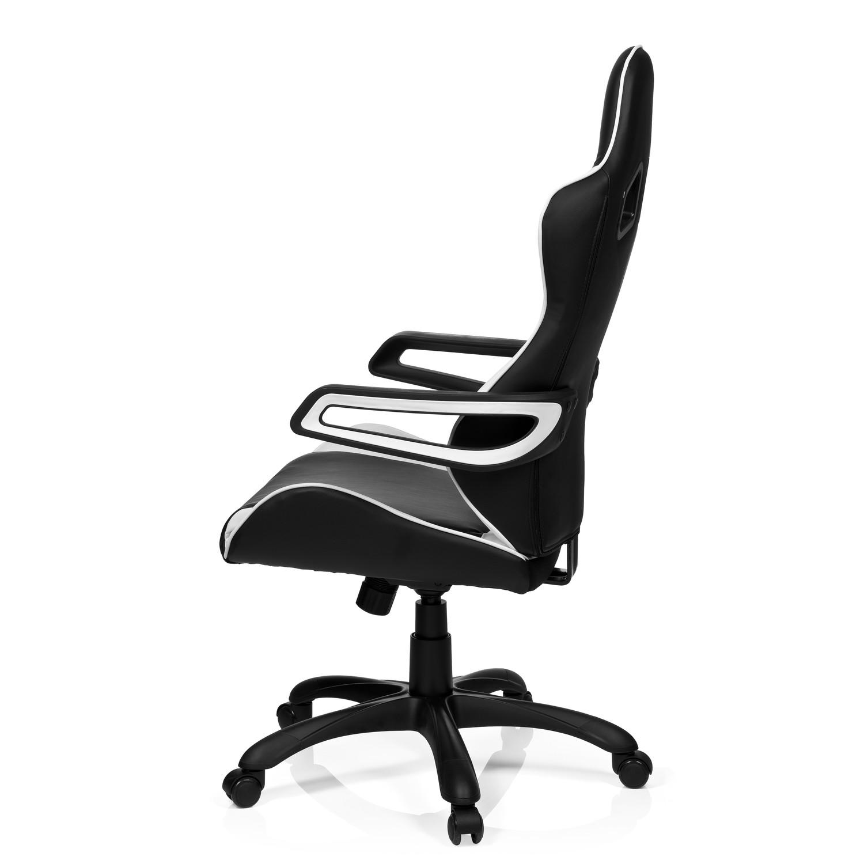 Silla gaming racer pro i uso 8h color blanco negro for Sillas gaming rebajas