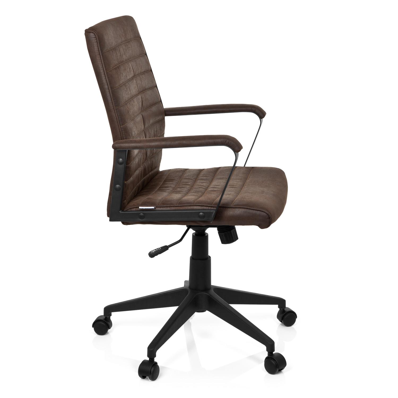 Silla de oficina tavira acabado vintage en piel marr n for Sillas de oficina comodas