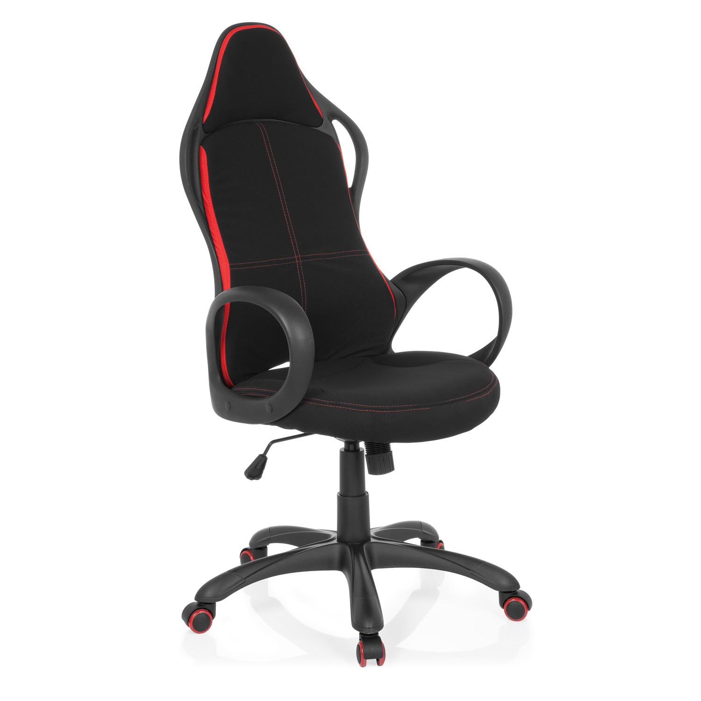 Silla gamer prost dise o deportivo en tela negro y rojo for Silla ordenador gamer