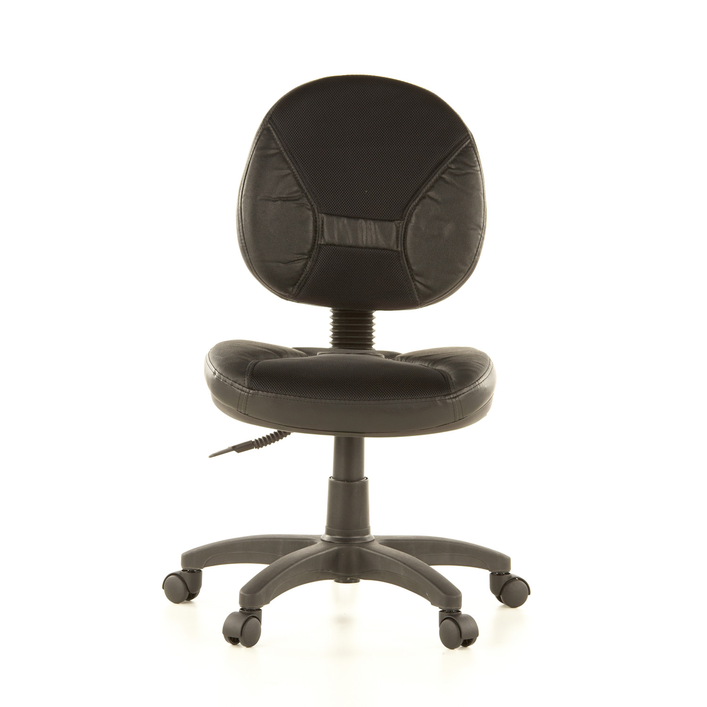 Silla de oficina ergo dual en piel acolchada y ajustable - Sillas sala de espera ikea ...