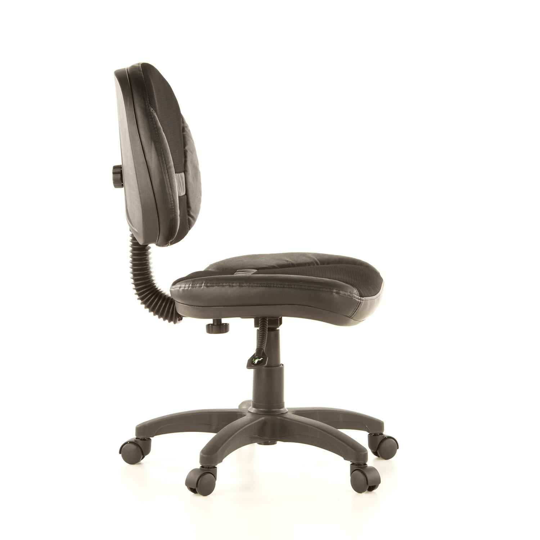 Silla de oficina ergo dual en piel acolchada y ajustable - Silla sin respaldo ...