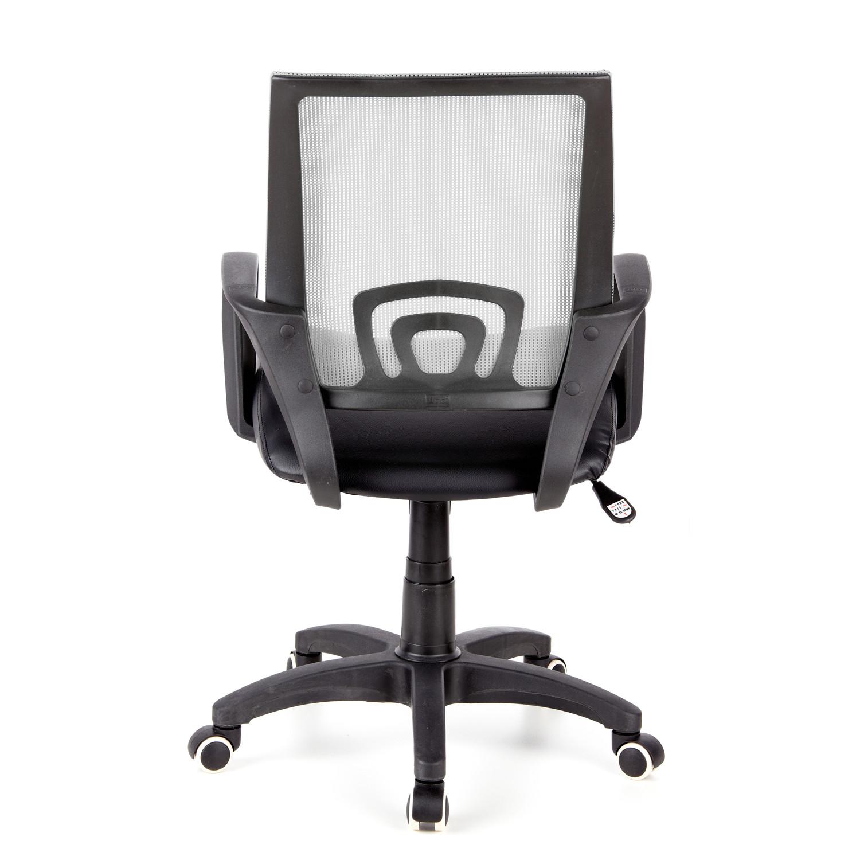 Silla de oficina visto con asiento acolchado en gris for Sillas de oficina ofertas
