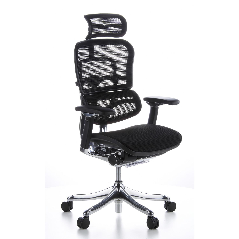 Silla ergon mica ergoplus ajustable soporte lumbar negra for Soporte lumbar silla oficina