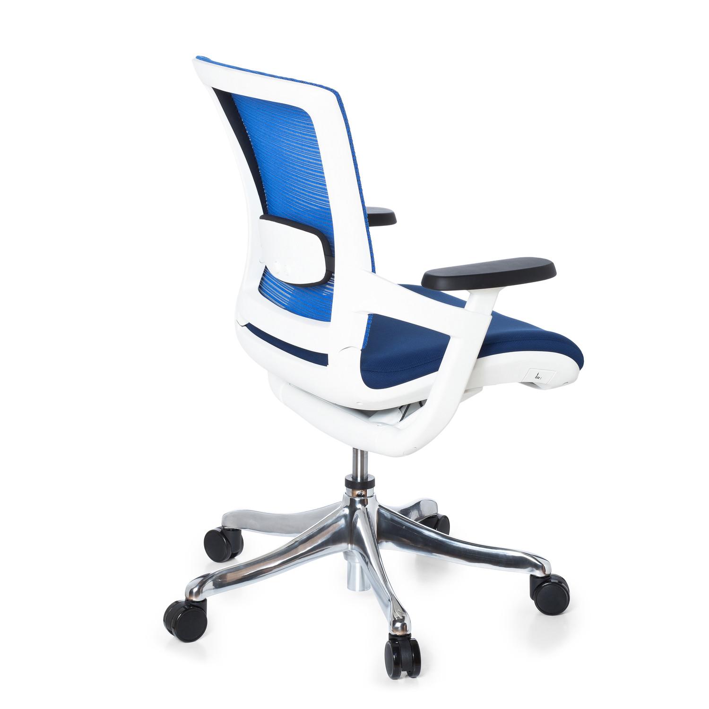 Silla ergon mica airgus tela azul soporte lumbar for Sillas ergonomicas con apoyo lumbar