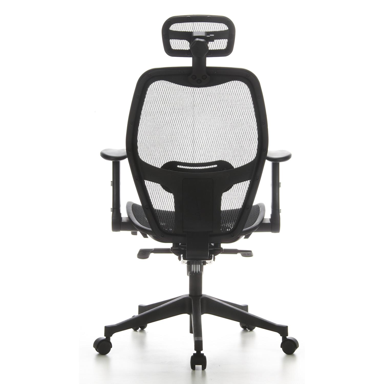Silla ergon mica airport de malla ajustable color negro for Sillas de estudio ergonomicas