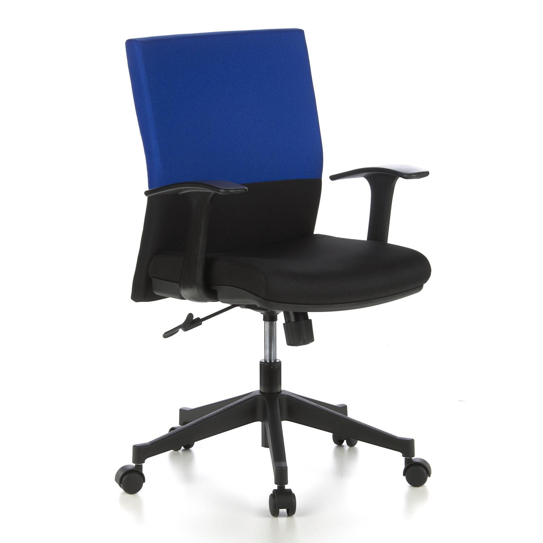Silla de oficina laguna 8h con asiento muy c modo azul y for Oficina de empleo la laguna
