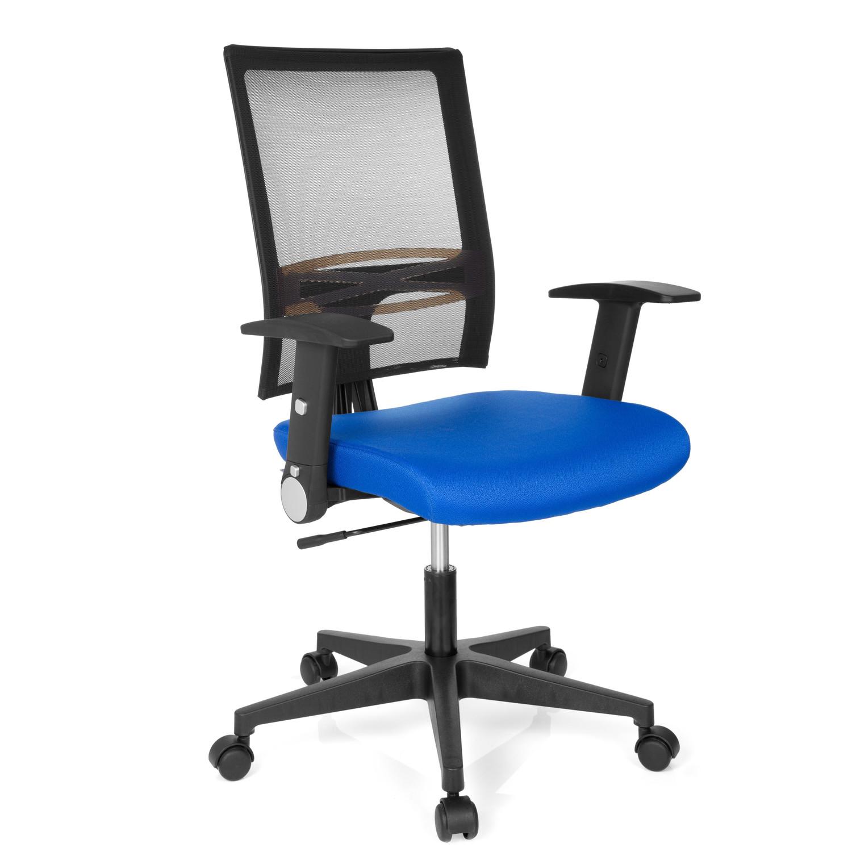Silla de oficina soho soporte lumbar en azul silla de for Soporte lumbar silla oficina