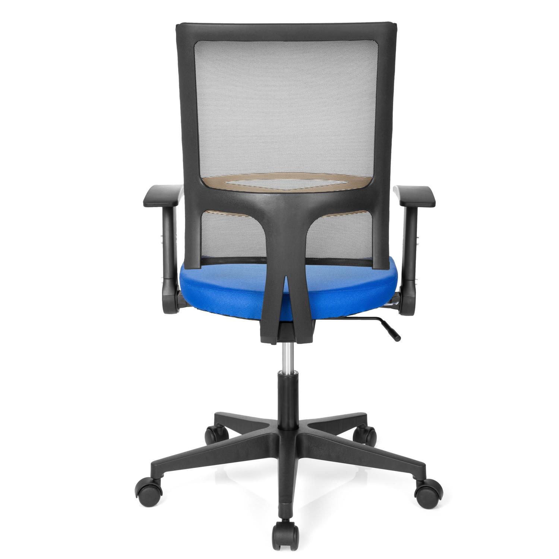 Silla de oficina soho soporte lumbar en azul for Soporte lumbar silla oficina