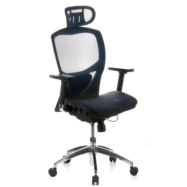 Silla ergonómica VENUS PRO ajustable 100%, en malla azul - Ofisillas.es