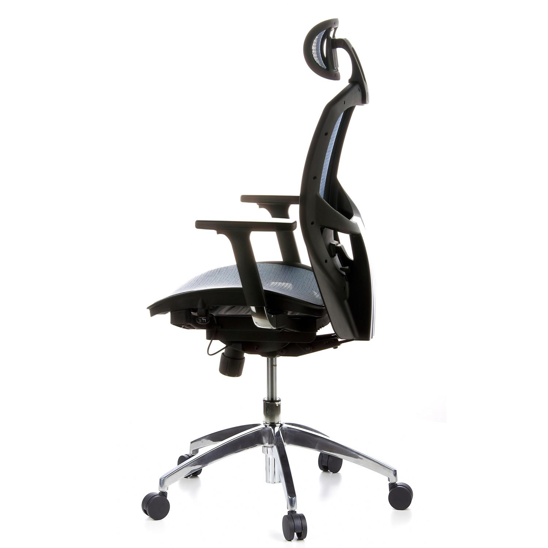 silla ergon mica venus pro ajustable 100 en malla azul