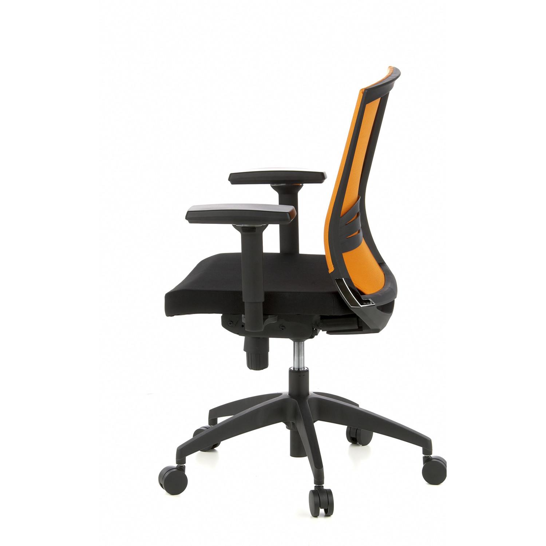 Silla de oficina carina uso 8h lumbar ajustable negro y for Soporte lumbar silla oficina