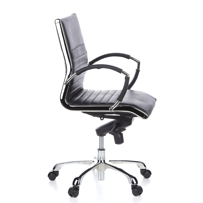 silla ergon mica palma 10 en cuero y cromada color negro On diseno de silla ergonomica