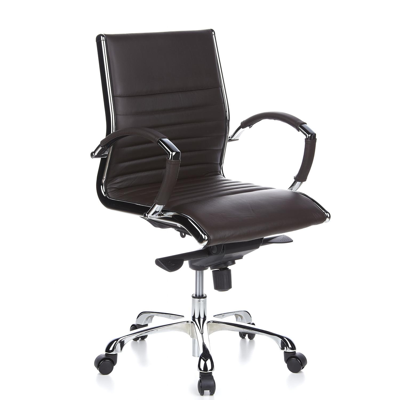 Silla ergon mica palma 10 cuero fino y cromada marr n for Diseno de silla ergonomica
