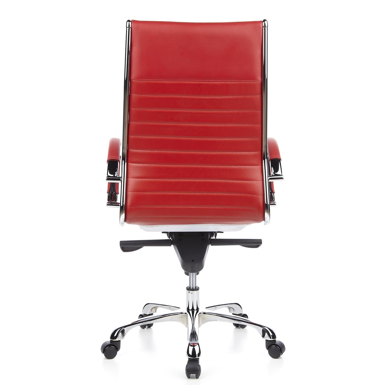 Silla ergon mica palma en cuero fino roja preciosa for Diseno de silla ergonomica