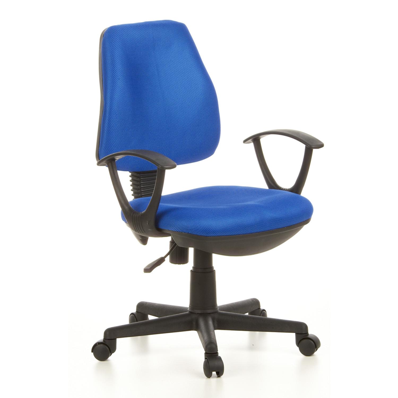 Silla de oficina CITY 10 ajustable, respaldo adaptable, azul - Silla ...