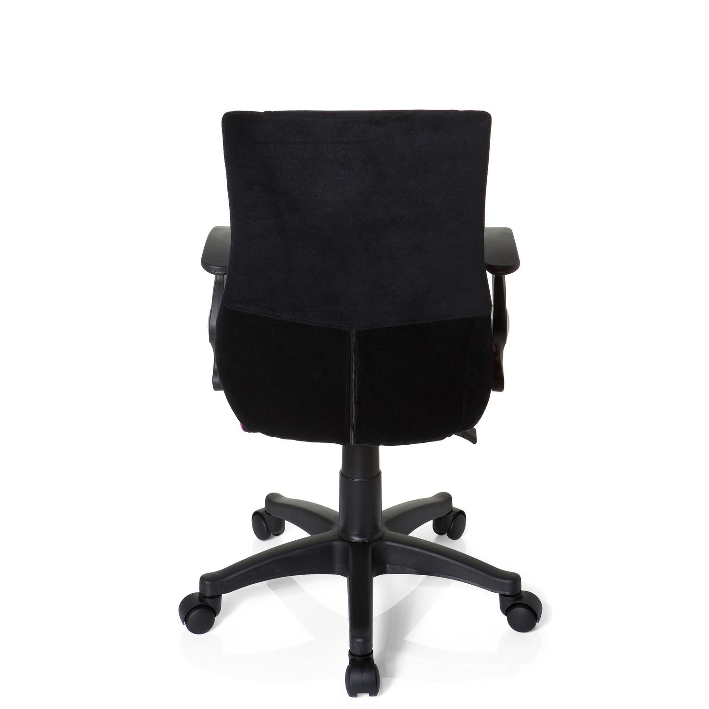 Silla infantil ergon mica keny reposabrazos negro rosa for Cojin lumbar silla oficina