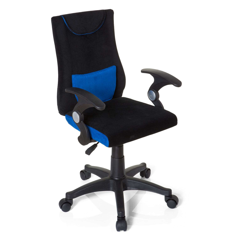 Silla infantil ergon mica keny reposabrazos negro azul for Cojin lumbar silla oficina