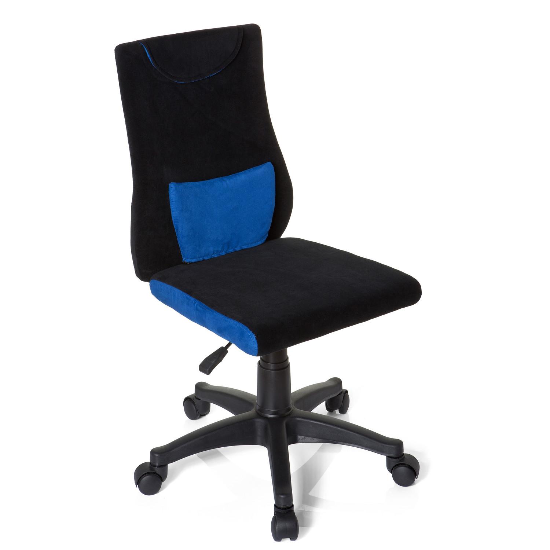 Silla para ni os ergonomica keny con cojin lumbar desmontable dise o en negro y azul - Sillas de oficina ninos ...