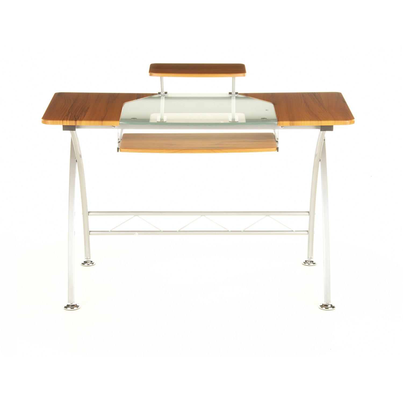 Mesa de oficina de madera y cristal combi 75x120cm mesa for Mesa cristal oficina