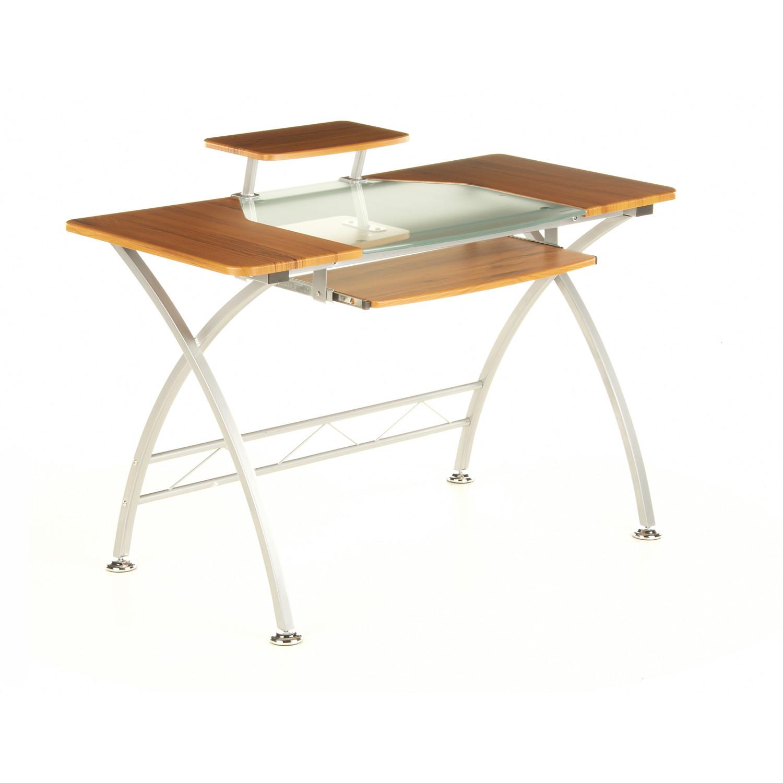 Mesa de oficina de madera y cristal COMBI, 75x120cm - Mesa Oficina ...