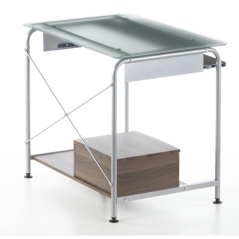 Mesa de ordenador compact pro ahorro de espacio para tu - Mesa ordenador madera ...